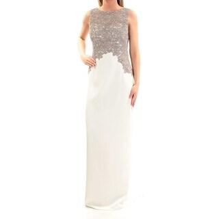 RALPH LAUREN $235 Womens New 1051 Ivory Lace Slitted Body Con Dress 2 B+B