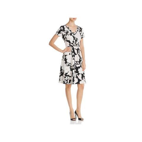 Karl Lagerfeld Womens Scuba Dress Floral Textured