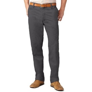 Dockers Off The Clock Straight Fit Flat Front Chinos Pants Dark Grey 32 x 30