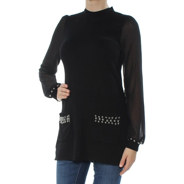 de47cefe34 Shop INC Womens Black Embellished Long Sleeve Crew Neck Sweater Size: XS -  On Sale - Free Shipping On Orders Over $45 - Overstock - 27761662