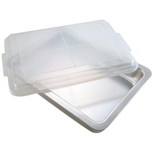 T-fal AirBake 08606PA Oblong Baking Pan With Cover, Aluminum