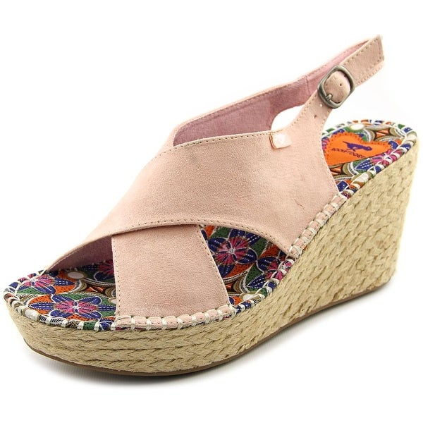 Rocket Dog Rue Women Open Toe Canvas Wedge Sandal