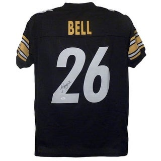LeVeon Bell Autographed Pittsburgh Steelers Black Size XL Jersey On 2 JSA