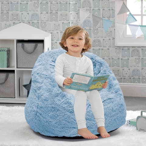 Delta Children Cozee Fluffy Chair, Toddler Size Up to 6 Years Old