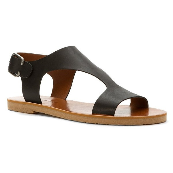 Lucky Brand Womens Devyn Leather Open Toe Casual Ankle Strap Sandals