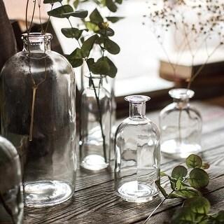 RusticReach Small Opening Glass Vase