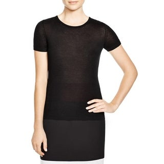 BOSS Hugo Boss Womens Pullover Sweater Virgin Wool Ribbed Trim