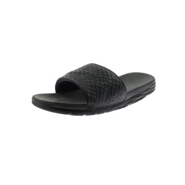 5be55763d837 Nike Mens Benassi Solarsoft Slide Sandals Sport Textured - 9 medium (d)