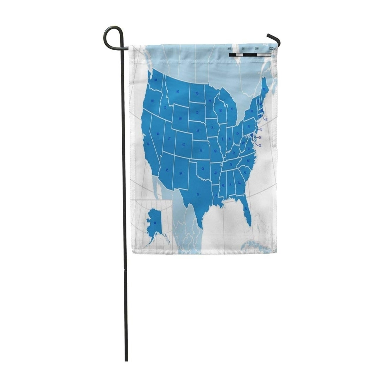 Shop United States Map Detailed Layers Postal Abbreviations Scale Bar Garden Flag Decorative Flag House Banner 12x18 Inch On Sale Overstock 31382650