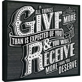 "PTM Images 9-101009  PTM Canvas Collection 12"" x 12"" - ""Honest Words - Receive"" Giclee Sayings & Quotes Art Print on Canvas"