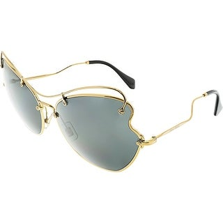 Miu Women's MU56RS-7OE1A1-65 Gold Butterfly Sunglasses