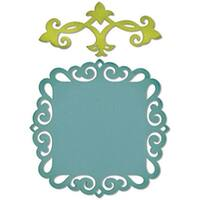 Decorative Accent & Label - Sizzix Thinlits Dies 2/Pkg