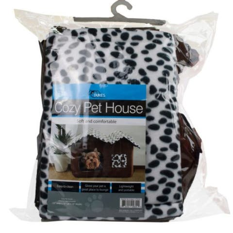 """20"""" Brown and Black High-End Double Pet House Dog Room"""