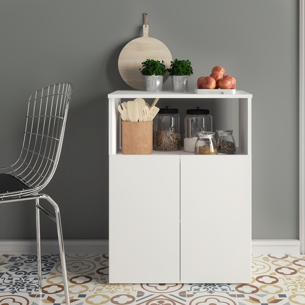 Boahaus Poitiers Kitchen Pantry 02 Doors 01 Shelf Overstock 31767959