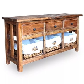 "Link to vidaXL Sideboard Solid Reclaimed Wood 39.4""x11.8""x19.7"" Similar Items in Dining Room & Bar Furniture"