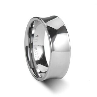 THORSTEN - WASHINGTON Polish Finished Concave Tungsten Wedding Band - 7mm