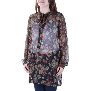 RALPH LAUREN $245 Womens New 3352 Navy Floral Sheer Need Tanktop Top 6 B+B