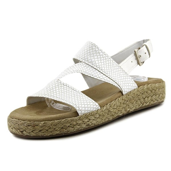 Aerosoles Globetrotter Women White Snake Sandals