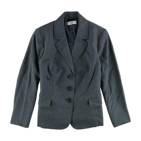 Le Suit Womens Denim Three Button Blazer Jacket - 20W
