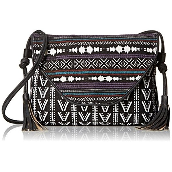 Twig & Arrow Womens Crossbody Handbag Canvas Printed - Black Multi - small