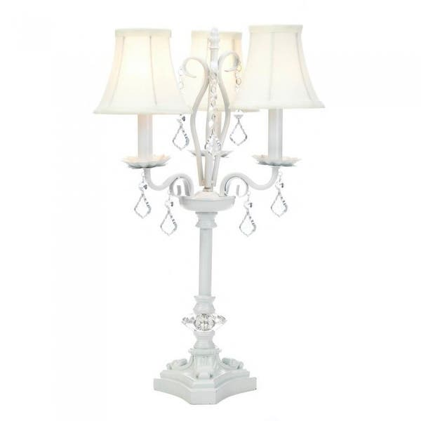 Shop White Chandelier Table Lamp Overstock 23500051