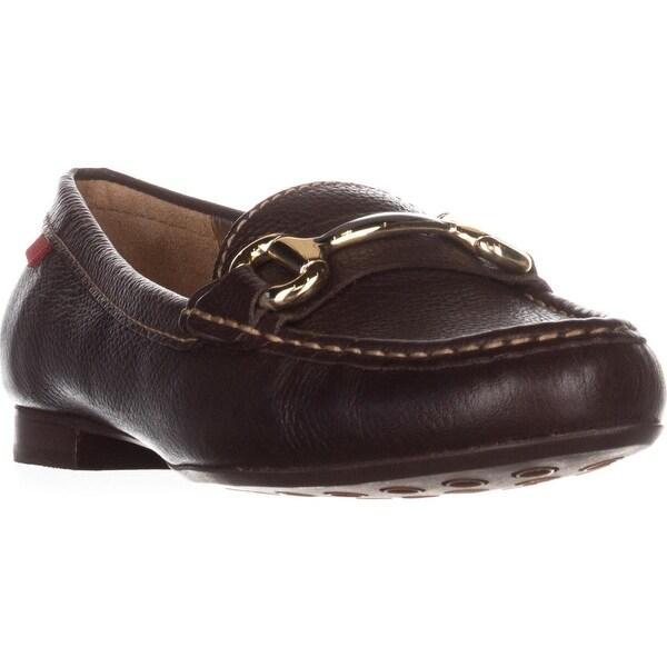 Marc Joseph New York Grand St. Dress Loafers, Brown Grainy - 7 us / 37.5 eu