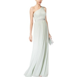 Adrianna Papell Womens Evening Dress One Shoulder Lace