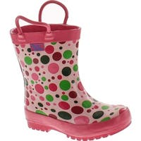 Pluie Pluie Toddler Little Girls Pink Polka Dot Rain Boot Shoes