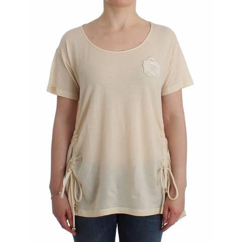 Ermanno Scervino Beachwear White Maxi T-Shirt Top Women's Blouse - it42-s