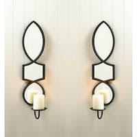 2 Elegant Mirrored Candle Sconces