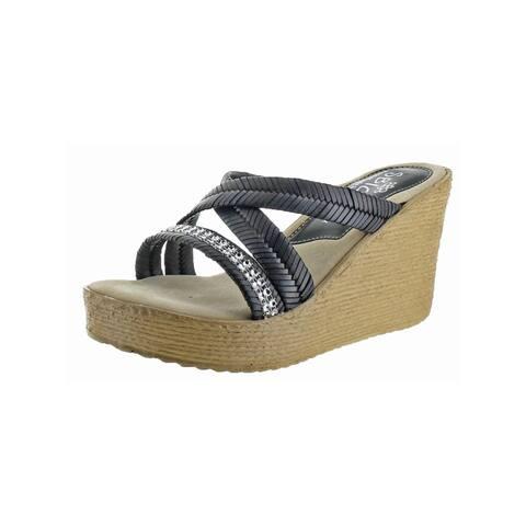 ab673b5f6af1 Sbicca Womens Zennia Wedge Sandals Chevron Woven