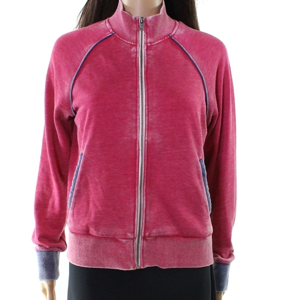 Alternative Blue Vintage Women's High Neck Full Zip Jacket
