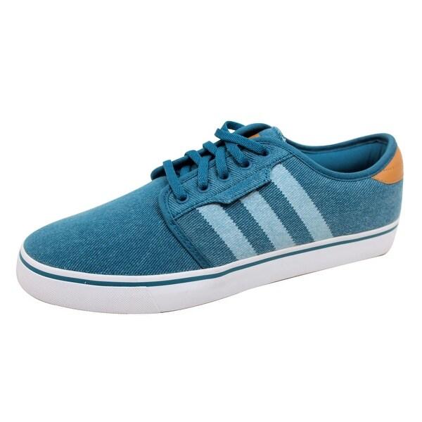 Adidas Men's Original Seely Blue/White Denim C76931 Size 9