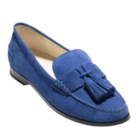 7e6bbd3a8896 Cole Haan Womens Emmons Tassel Leather Closed Toe Loafers