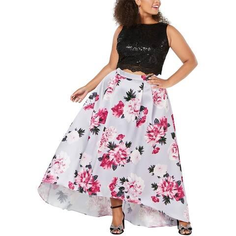 City Studio Womens 2 Piece Pleated Skirt