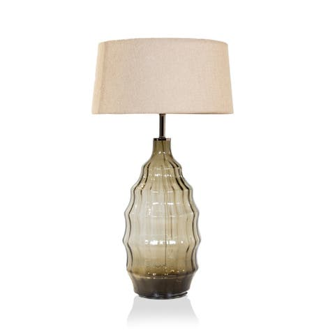 The Curated Nomad Hermann Contemporary Olive Table Lamp