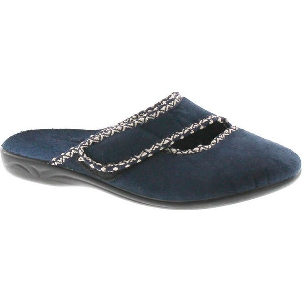 Sc Home Collection Womens 171 Closed Toe Low Wedge House Slippers Side Strap Made In Europe