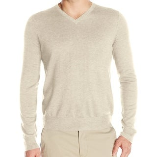 IZOD NEW Beige Heather Mens Size 2XL Campus V-Neck Pullover Sweater