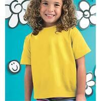 Rabbit Skins 3301T Toddler T-Shirt, Yellow, 4T
