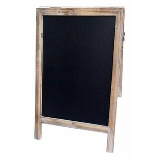 Double Sided Wood Frame Chalkboard, Large - 19.5 x 1.5 x 12.25