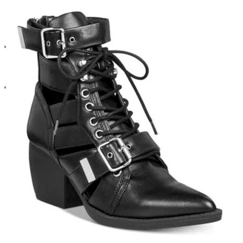 Zigi Soho Womens bucklie Fabric Pointed Toe Mid-Calf Fashion Boots