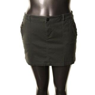 Teen Vogue Womens Juniors Mini Skirt Stretch Studded - S