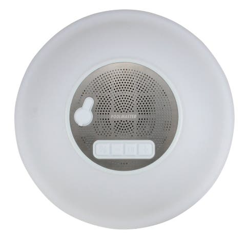 Floating Wireless Speaker with Multi-Light Display for Swimming Pools