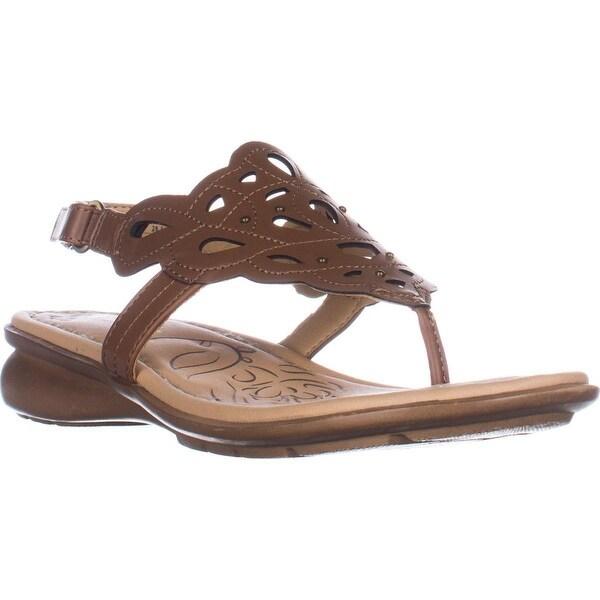 naturalizer Jade Thong Round Toe Sandals, Saddle Tan