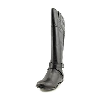 Marc Fisher Amber Wide Calf Round Toe Leather Knee High Boot