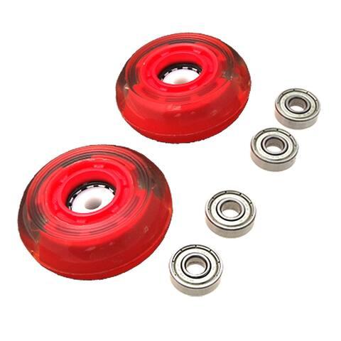 Unique Bargains 69mm 78A Replacement Roller 4 Bearings Skate Wheels 2 Pcs