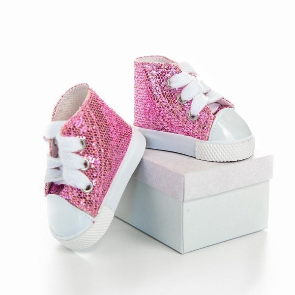 Girls Shoes Winter Glitter Doll Shoes For 18 Inch American Girl Doll Accessory Soft Sole Girls Toy Toddler Sneaker