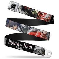 Attack On Titan Logo Full Color Black White Red Attack On Titan Eren Seatbelt Belt