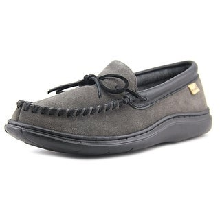 L.B. Evans Atlin Men Moc Toe Suede Gray Slipper