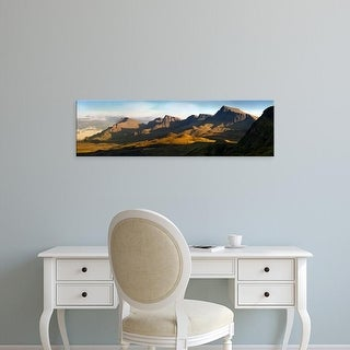 Easy Art Prints Panoramic Images's 'Trotternish?Ridge at sunset, Skye, Scotland' Premium Canvas Art